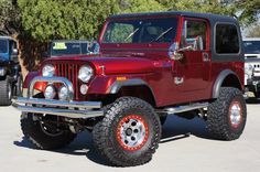 Final Year of the Coveted CJ-7 1986 Cherry Red Custom - 4.2L Inline 6 Cylinder, Custom Interior, etc...Click for more--> http://www.selectjeeps.com/inventory/view/9008821/1986-Jeep-CJ-4WD-CJ7-League-City-TX