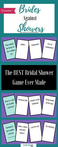 Brides Against Showers. The best #bridalshowergames ever! #bridalshowerideas #bacheloretteparty
