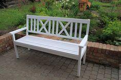 Купить Скамейка Садовая - белый, скамейка, скамейка садовая, лавка, дача, мебель для дачи
