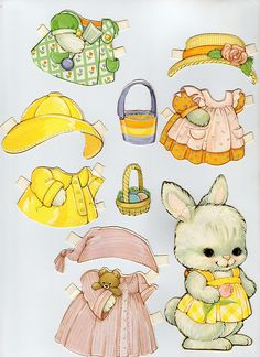 paper doll bunny