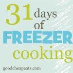 31 days of freezer cooking