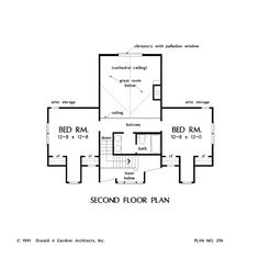 THE WOODLAND BY DONALD GARDNER, PLAN 256 - [SECOND FLOOR LEVEL]