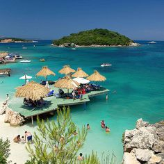 Crystal clear water in Ksamil, Albania! #ksamil #albania #luxuryvacations