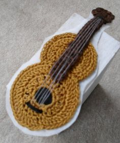 Crochet Guitar  wool