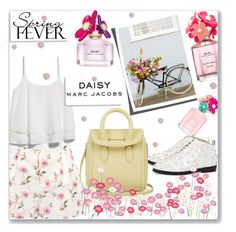 """""""Marc Jacobs Daisy So Fresh"""" by mood-chic ❤ liked on Polyvore featuring beauty, Marc Jacobs, RED Valentino, Isa Tapia, MANGO, Alexander McQueen and springscent"""