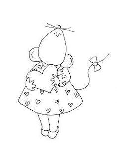 Cute mouse w/ heart