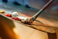 One of many great free stock photos from Pexels. This photo is about paintbrush, painting, palette Vincent Van Gogh, Marie Von Ebner Eschenbach, Paint Paint, Acrylic Paint Brushes, Inspiration Art, Palette, Kids Art Class, Focus Photography, Photoshop Brushes
