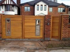 #wooden #driveway #gates, modern