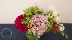 clavel, hortensia, lisianthus, atriplex, semillado
