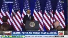 Obama Defends Marijuana Use: It's 'No Worse Than Alcohol'