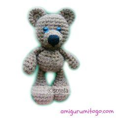 Little Bigfoot Bear free crochet pattern by Amigurumi To Go (sharon ojala)