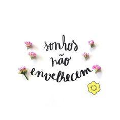 Os anos passam, as rugas chegam, a gente pode até não ser mais criança, mas os sonhos... Continuam com a mesma intensidade! #floriografia #bomdia #frases #frasedodia #sonhos #flores #flordodia #calandiva #diadascriancas