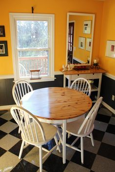 Stain and paint a dining table