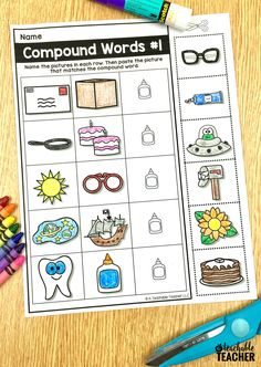Picture-based cut and paste phonemic awareness worksheets. These are perfect kindergarten, first grade, and English language learners! Preschool Homework, Kindergarten Reading, Kindergarten Worksheets, Teaching Reading, Preschool Kindergarten, Phonemic Awareness Activities, Phonological Awareness, Phonics Activities, Reading Activities