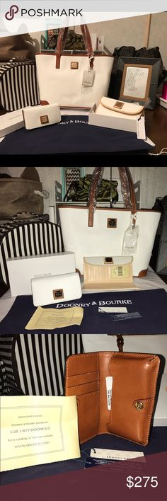 Dooney & Bourke Charleston w Wallet &a Cell Holder BRAND NEW WITH TAGS AND COME WITH AUTHENTICITY PAPERWORK!!!! All MINT condition--never used!!! Measurements coming soon...stay tuned folks!!! 😉 Dooney & Bourke Bags Totes
