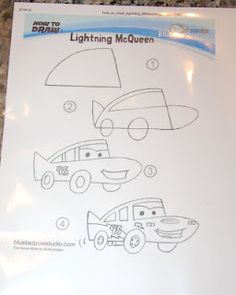How to draw Lightening McQueen