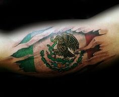 50 Mexican Eagle Tattoo Designs For Men - Manly Ink Ideas, 50 Mexican Eagle Tattoo Designs For Men - Manly Ink Ideas Mexican Eagle Flag Mens Bicep Tattoos With Ripped Skin Design. Usa Tattoo, Pride Tattoo, Tattoo Ink, Chest Tattoo, Aztec Tattoo Designs, Name Tattoo Designs, Body Art Tattoos, Sleeve Tattoos, Bicep Tattoos
