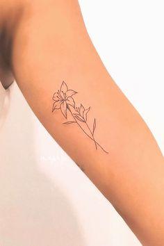 Small Lily Tattoo, Lilly Flower Tattoo, Jasmine Flower Tattoos, Water Lily Tattoos, Tiger Lilly Tattoo, Small Shoulder Tattoos, Amaryllis Tattoo, Gladiolus Tattoo, Lillies Tattoo