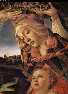 Sandro Botticelli The Madonna and the Nino with angeles