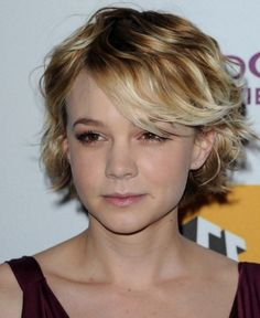 hort hairstyles for curly hair with bangs
