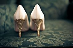 Add a touch of glitter to turn normal shoes into exciting shoes!