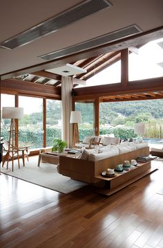 and Functional Home Terrace Decoration « Dream Home Design, Modern House Design, Home Interior Design, My Dream Home, Interior Architecture, Bamboo House Design, Cabin Design, House Goals, Home Fashion