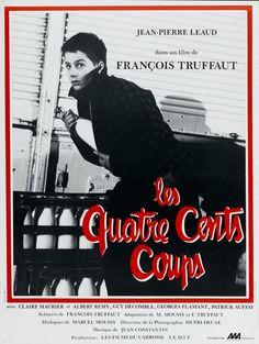 affiche du film 'Les 400 coups' par Truffaut ou Τα 400 χτυπήματα en Grecque