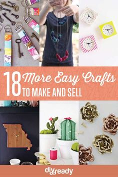 18 More Easy Craft to Make and Sell by DIY Ready at  http://diyready.com/18-more-easy-crafts-to-make-and-sell/