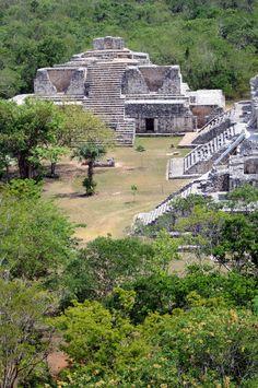 EK-BALAM Zona Arqueológica en Yucatán, México.