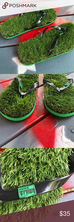 Sunday sale 🎉grass flip flops Unique design. You will feel like you are walking on grass in these flip flops kusa Shoes Sandals & Flip-Flops