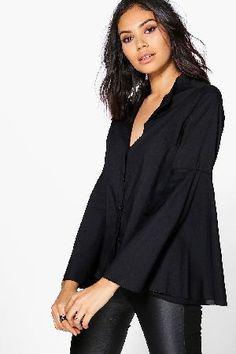 boohoo Flare Sleeve Woven Shirt - black DZZ59715 Libby Flare Sleeve Woven Shirt - black http://www.MightGet.com/january-2017-13/boohoo-flare-sleeve-woven-shirt--black-dzz59715.asp