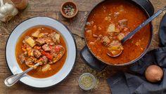 Recept: Dušené hovězí s paprikou Whole 30, Paleo, Thai Red Curry, Chili, Low Carb, Soup, Ethnic Recipes, Lchf, Fitness
