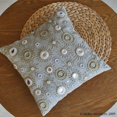 EMBROIDERED CUSHION NO.1