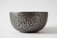 Black & Silver Wooden Bowl #timber #wooden #unique #handmade #art