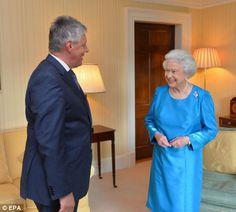 Britain's Queen Elizabeth II meets Northern Ireland's First Minister Peter Robinson