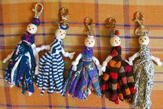 Lllaveros originales con muñecos de trapillos