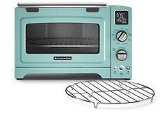 KitchenAid KCO275AQ Convection 1800-watt Digital Countertop Oven, 12-Inch, Aqua Sky. Shopswell | Shopping smarter together.™