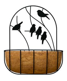Another great find on #zulily! Black Perching Birds Wall Planter #zulilyfinds
