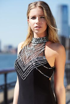 Illusion Necklace by Joanna Chen #Prom #JoannaChenNY