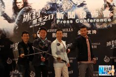 Donnie Yen and cast at press conference for their upcoming Hong Kong-Chinese 3D martial arts action film directed by Law Wing-cheung and starring Donnie Yen.  The film is set to release in China on April 25, 2014.