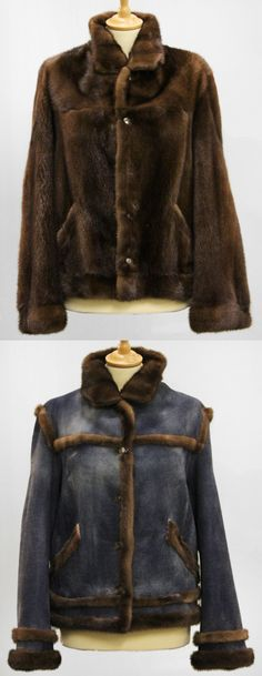 Interesting mink reversible jacket  brown fur, sold turned into jeans look and with mink, Gr. 38 - price: 840 EUR