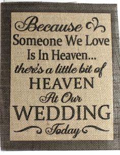Rustic Vinatge Chic Country Burlap Wedding Someone We Love Is in Heaven 8x10 | eBay
