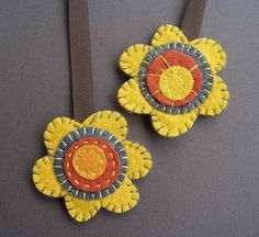 Harvest Flowers bookmark (double-sided) by soleilgirl, via Flickr