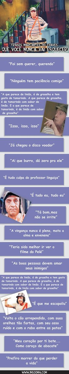 Frases Marcantes do Chaves
