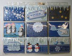 "Kunst á la Card: 2 Pocket Letter zum Thema ""Winter"""