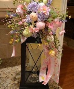 Gorgeous 65 Crafty DIY Spring and Easter Decorations Ideas On A. Best Picture For Easter Decor Ide Diy Easter Decorations, Christmas Decorations, Table Decorations, Easter Wreaths, Christmas Wreaths, Diy Osterschmuck, Easy Diy, Diy Ostern, Festa Party