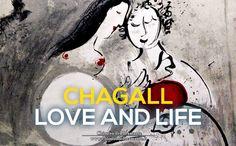 """- Chagall celebra l'amore come dono divino -  In mostra: """"Coppia di amanti con gallo"""", litografia del 1951 #ChagallRoma www.chiostrodelbramante.it"""