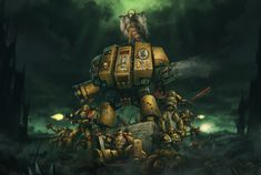Imperial Fists Last Stand, Jens Kuczwara Warhammer 40k Art, Warhammer 40k Miniatures, Imperial Fist, Create Canvas, Last Stand, Game Workshop, Space Marine, Oil Painting On Canvas, Oil Paintings