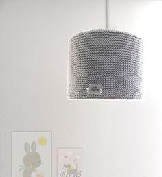Grey knitted lampshade – Studiodaytime