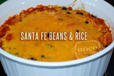 Santa Fe Beans and Rice | OAMC from Once A Month Mom    WW Plus Points = 5  #weightwatchers
